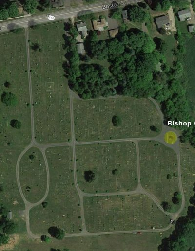 Alder Brook Cemetery Aerial - Bishop Circle