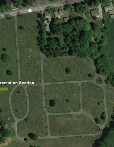 Alder Brook Cemetery Aerial - Cremation Section
