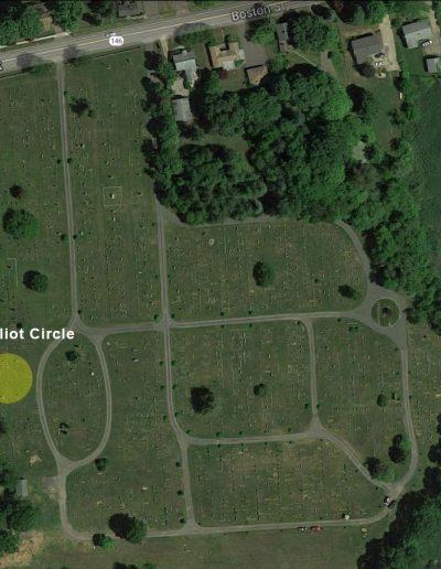 Alder Brook Cemetery Aerial - Eliot Circle