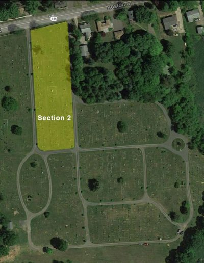Alder Brook Cemetery Aerial - Section 2