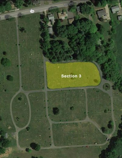 Alder Brook Cemetery Aerial - Section 3