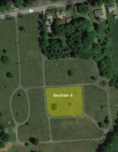 Alder Brook Cemetery Aerial - Section 4